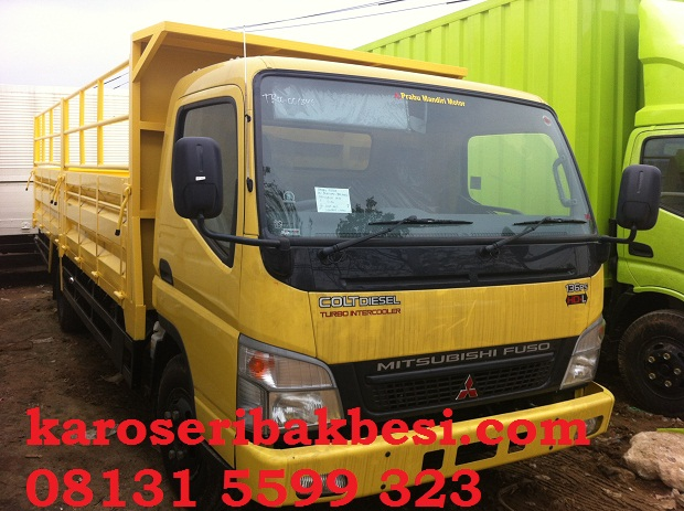 Karoseri bak besi drop side Mitsubishi canter