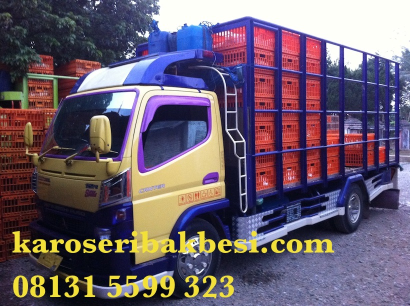 Karoseri bak truk angkutan ayam