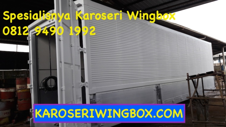 karoseri wingbox siap di pasang